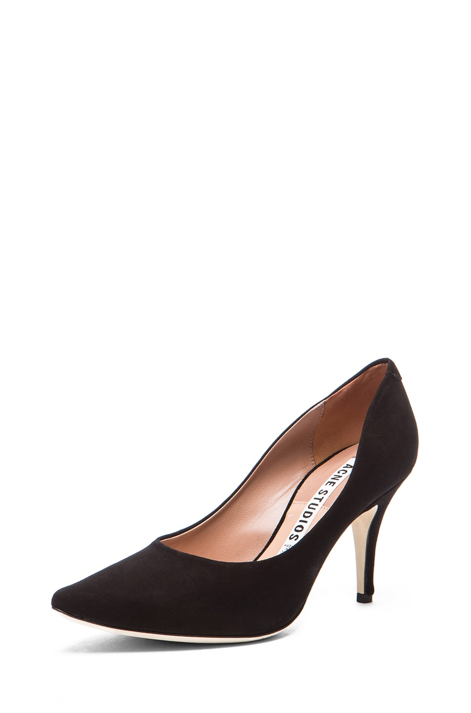 Image 2 of Acne Studios Lola Suede Pumps in Black