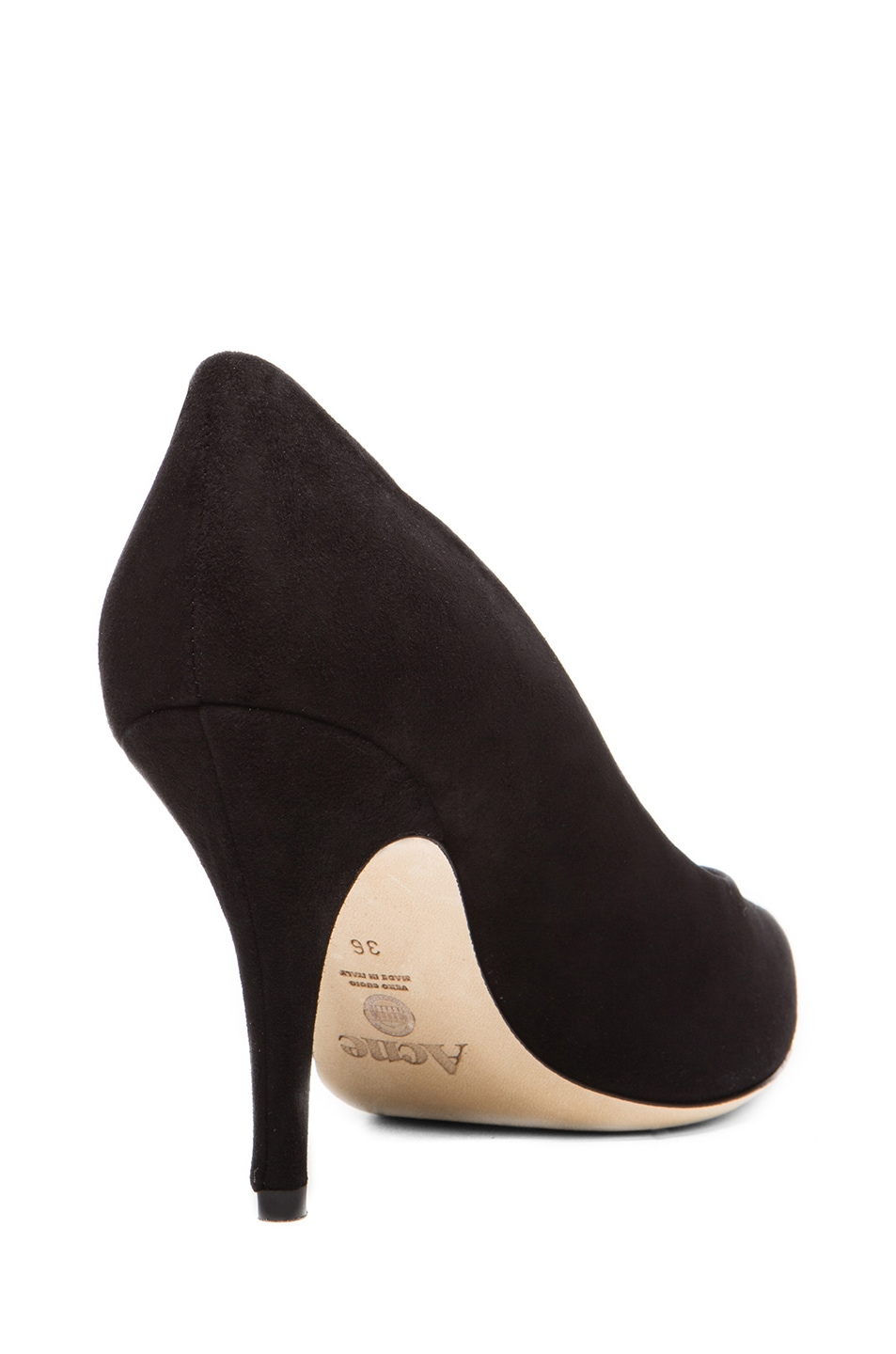 Image 3 of Acne Studios Lola Suede Pumps in Black