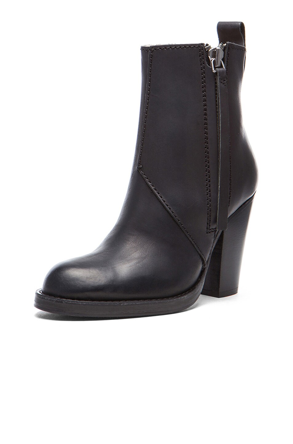 Image 2 of Acne Studios Colt Leather Booties in Black