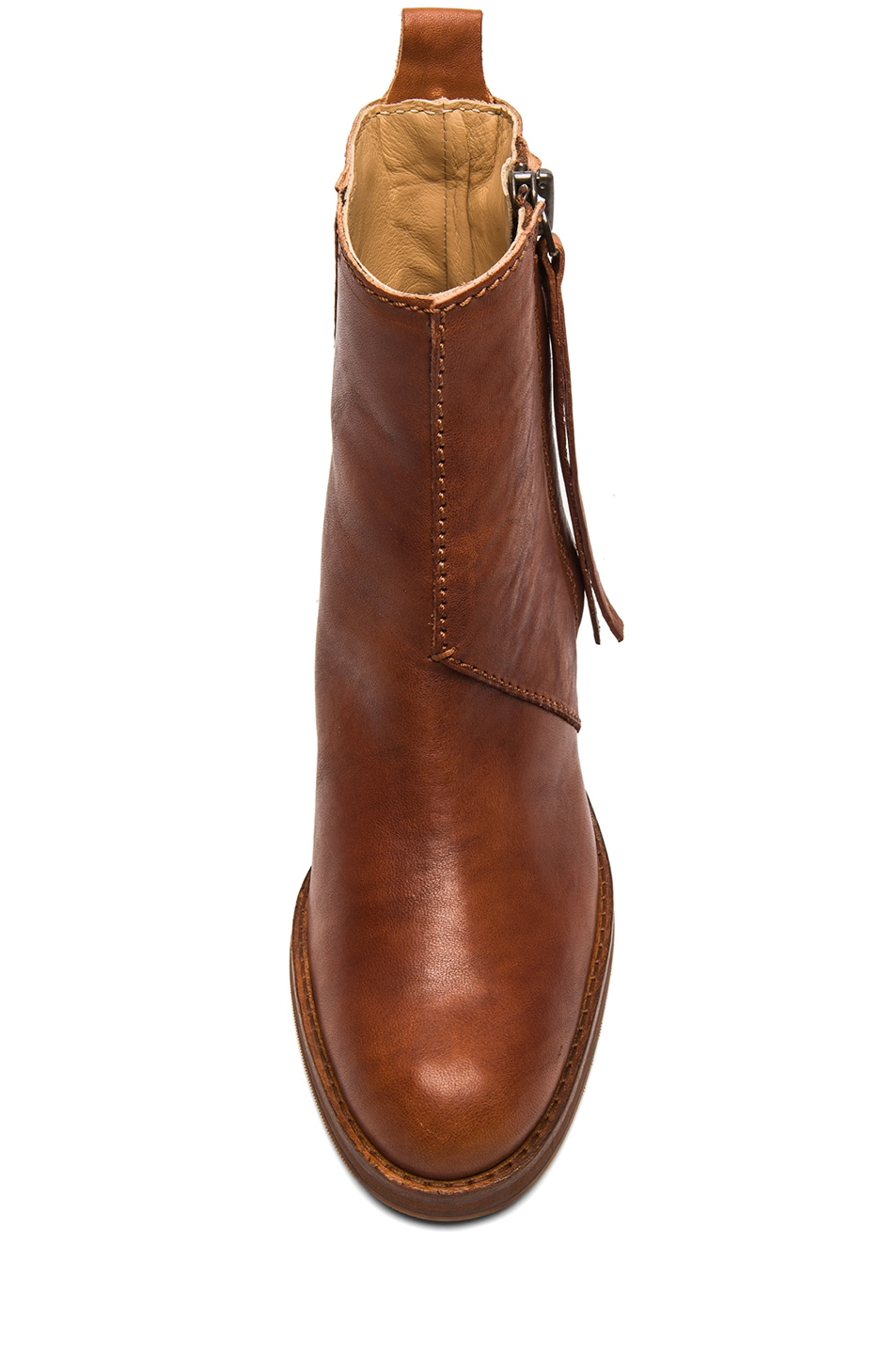 Image 4 of Acne Studios Pistol Leather Booties in Chestnut