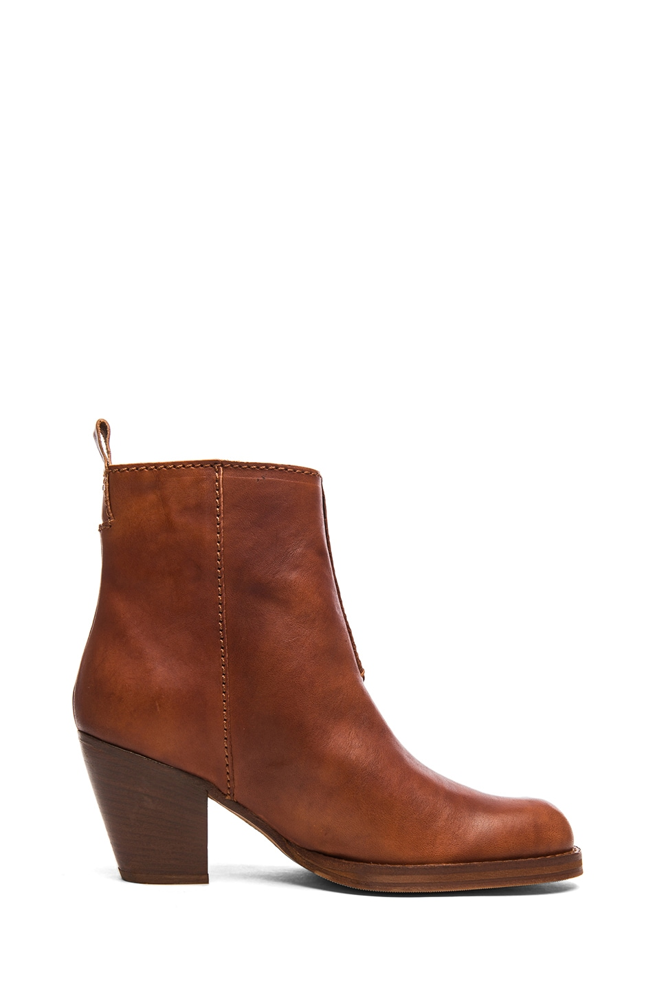 Image 5 of Acne Studios Pistol Leather Booties in Chestnut