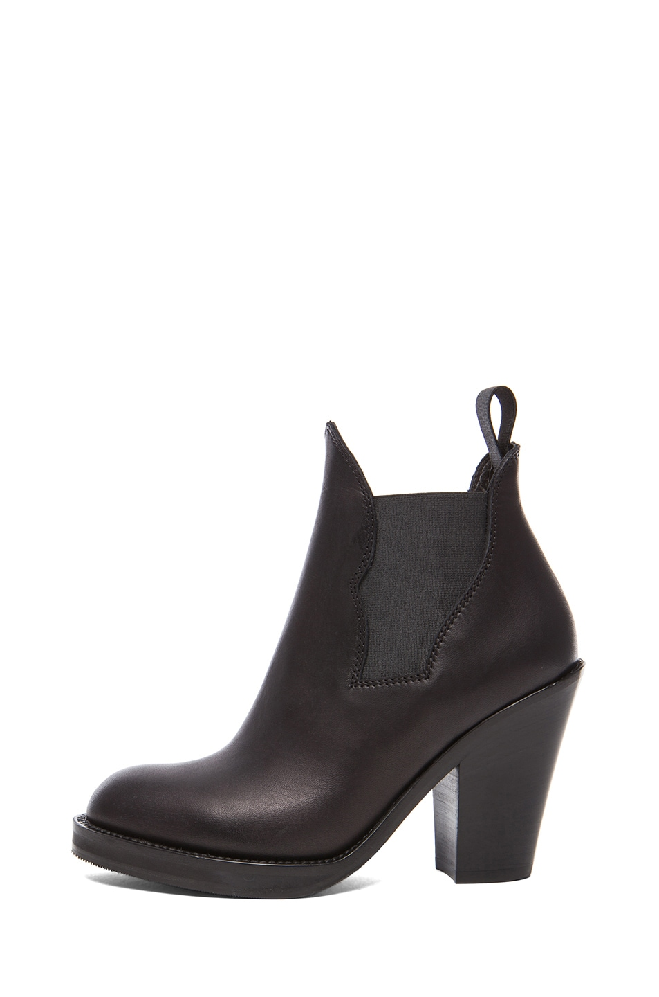 Image 1 of Acne Studios Star Calfskin Leather Booties in Black