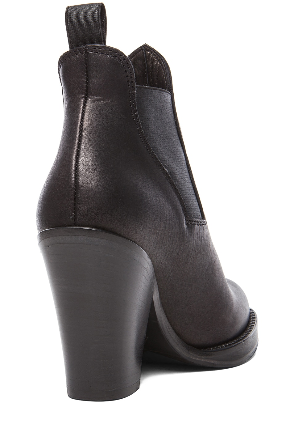 Image 3 of Acne Studios Star Calfskin Leather Booties in Black