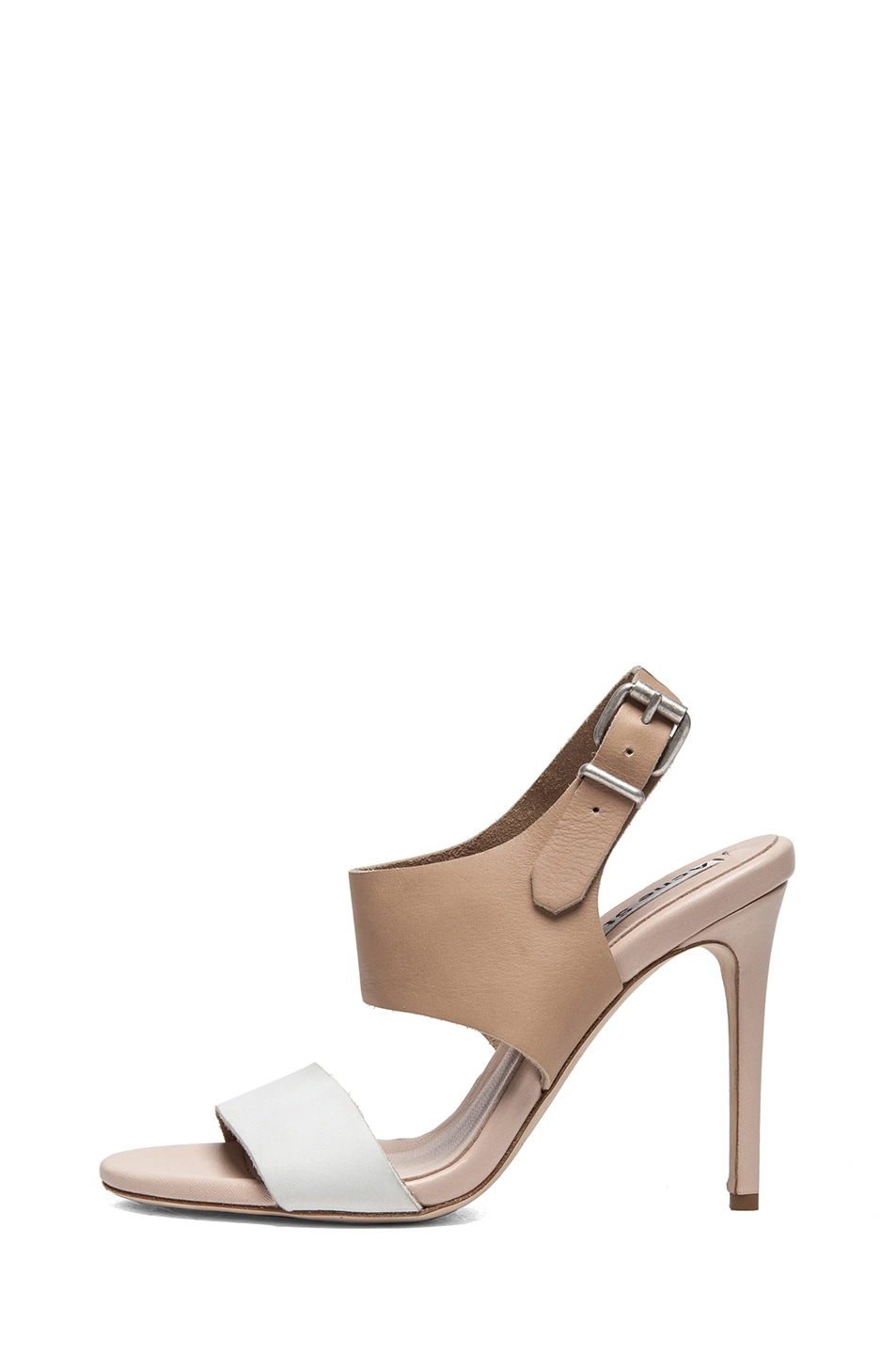 Image 1 of Acne Studios Tillie Leather Sandals in Nude & White