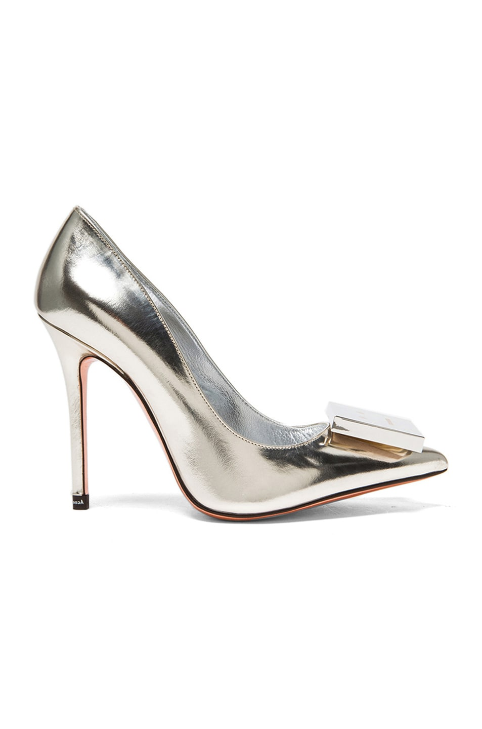 Image 1 of Acne Studios Alivia Metallic Leather Pumps in Light Gold