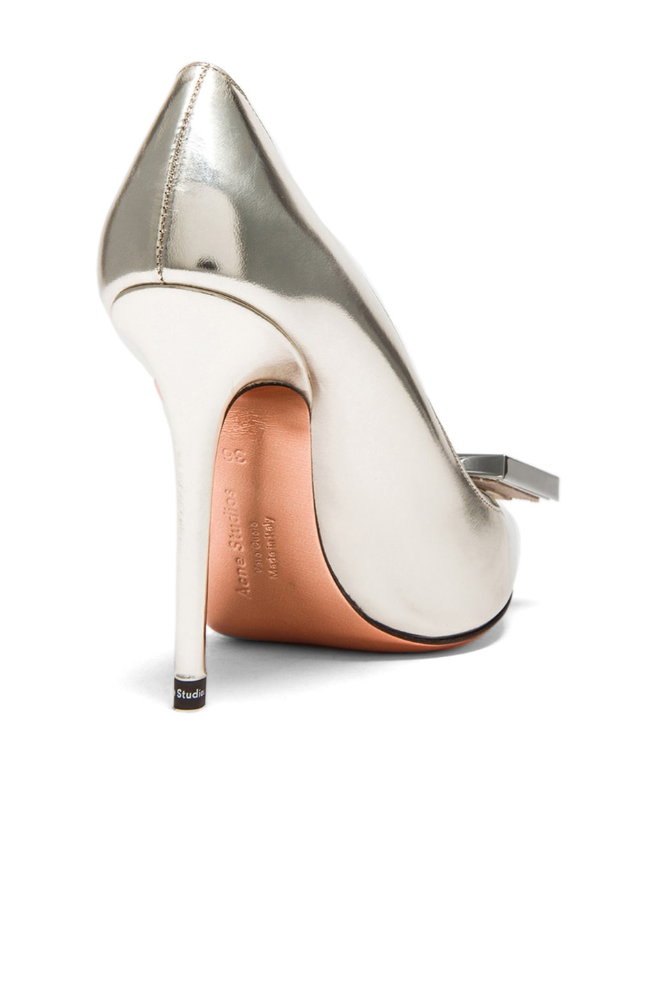 Image 3 of Acne Studios Alivia Metallic Leather Pumps in Light Gold