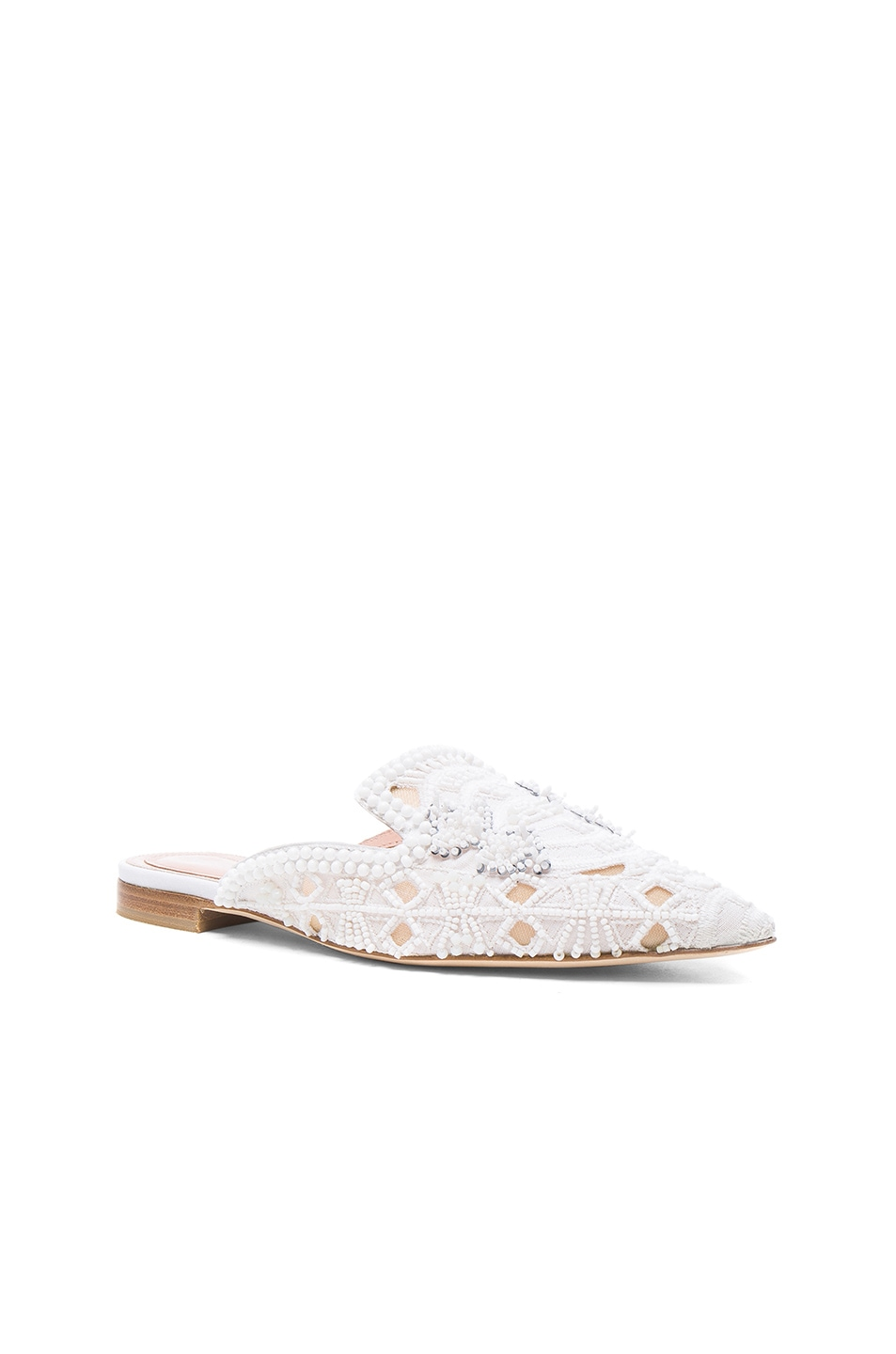 ALBERTA FERRETTI Cotton Beaded Mules