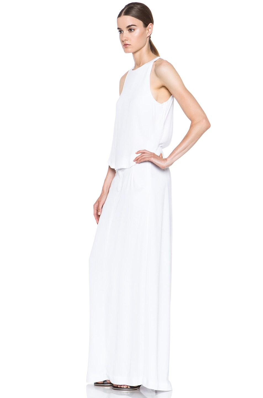 Image 2 of A.L.C. Rolston Viscose Silk Dress in White