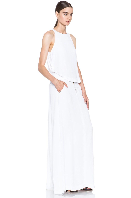 Image 3 of A.L.C. Rolston Viscose Silk Dress in White