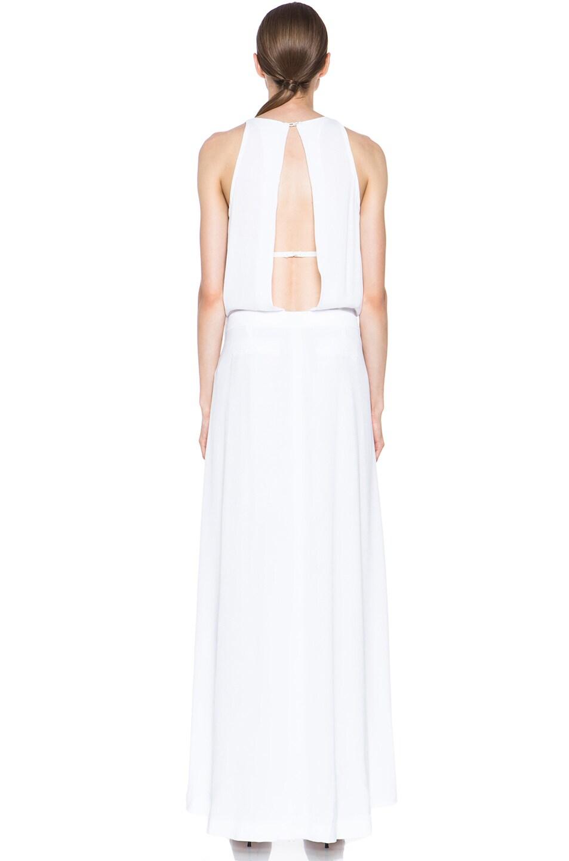 Image 4 of A.L.C. Rolston Viscose Silk Dress in White