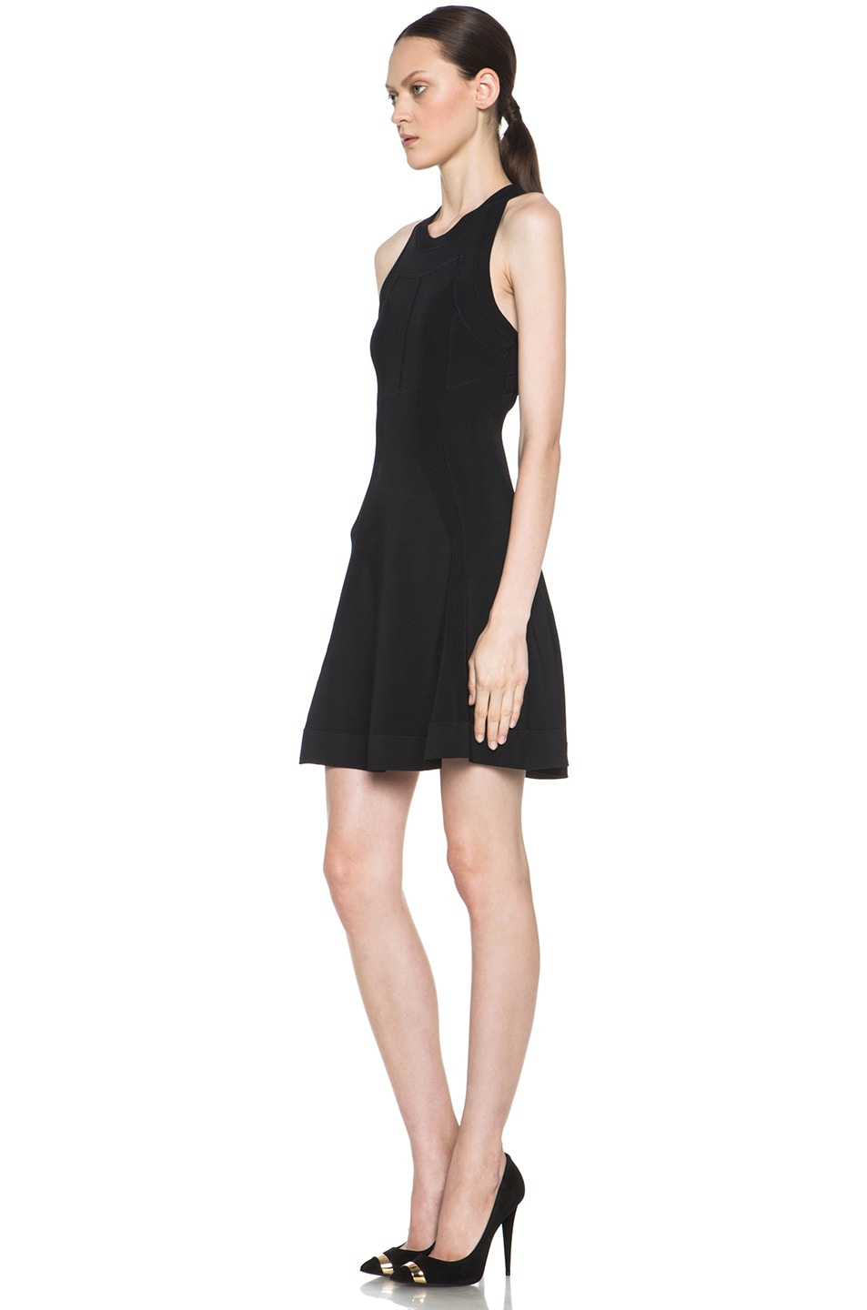 Image 2 of A.L.C. Barrett Viscose-Blend Dress in Black