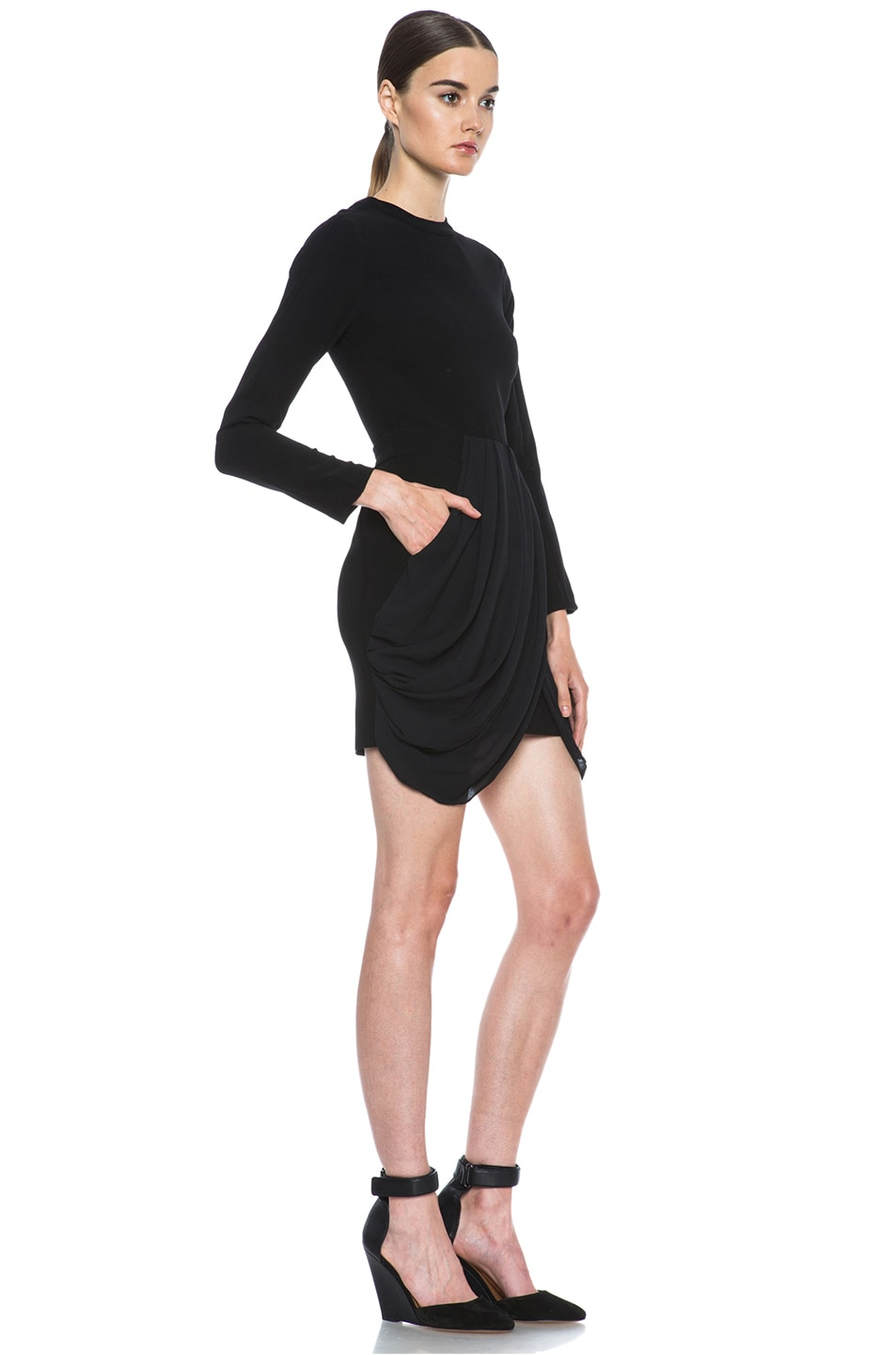 Image 3 of A.L.C. Tolan Dress in Black