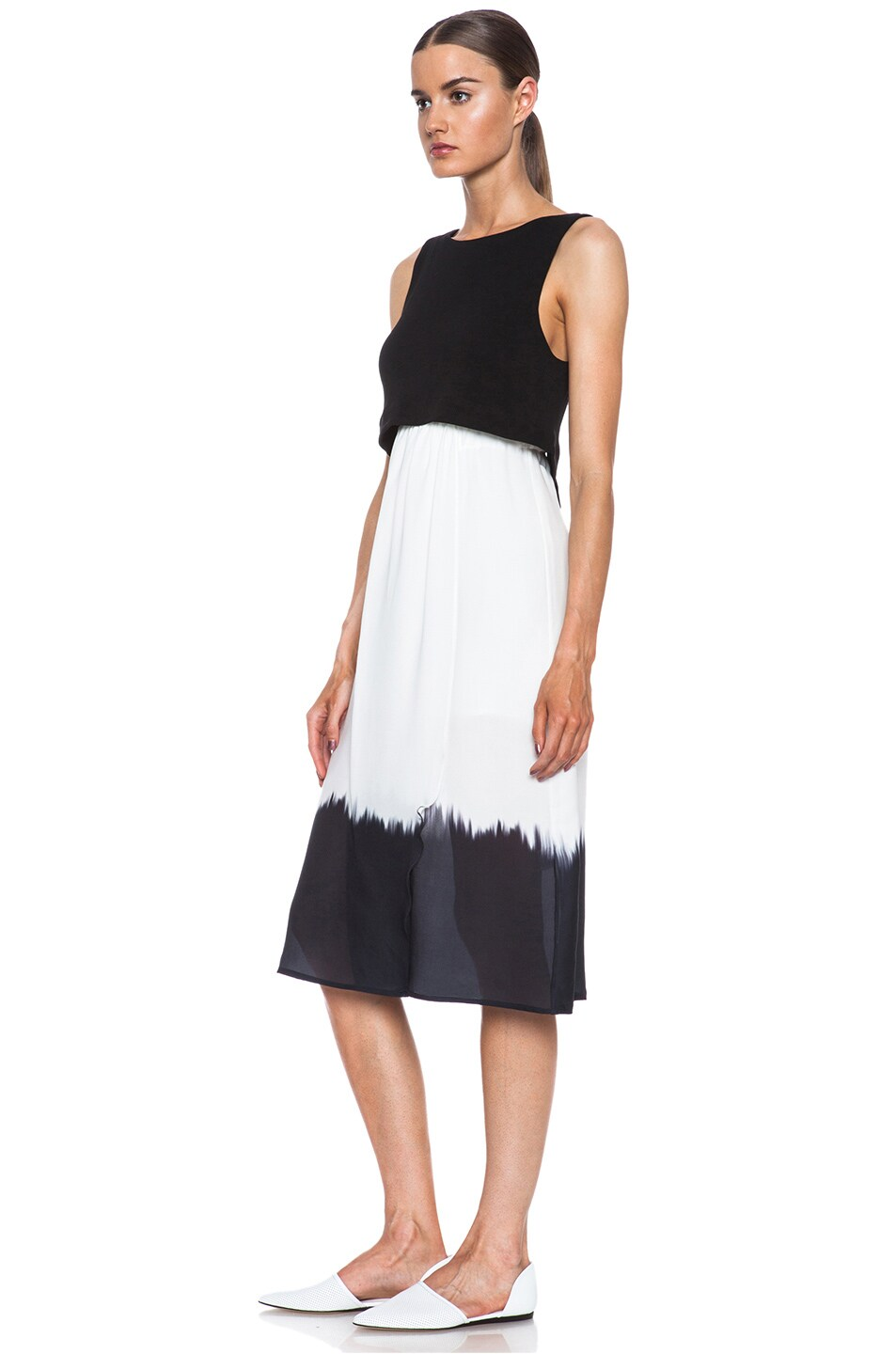 Image 2 of A.L.C. Davis Silk Dress in White & Black