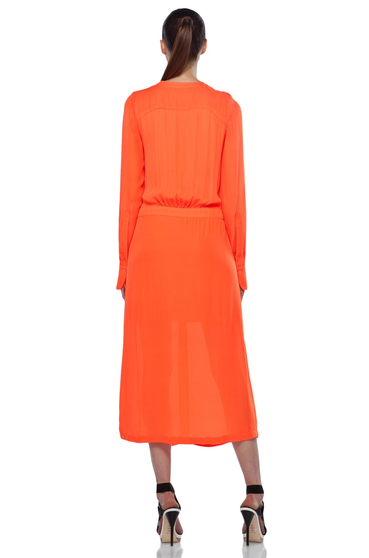 Image 4 of A.L.C. Delilah Dress in Safety Orange