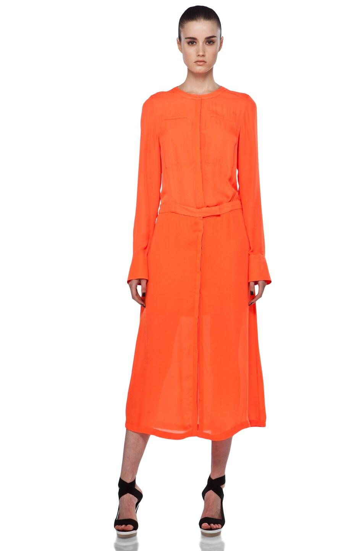 Image 5 of A.L.C. Delilah Dress in Safety Orange