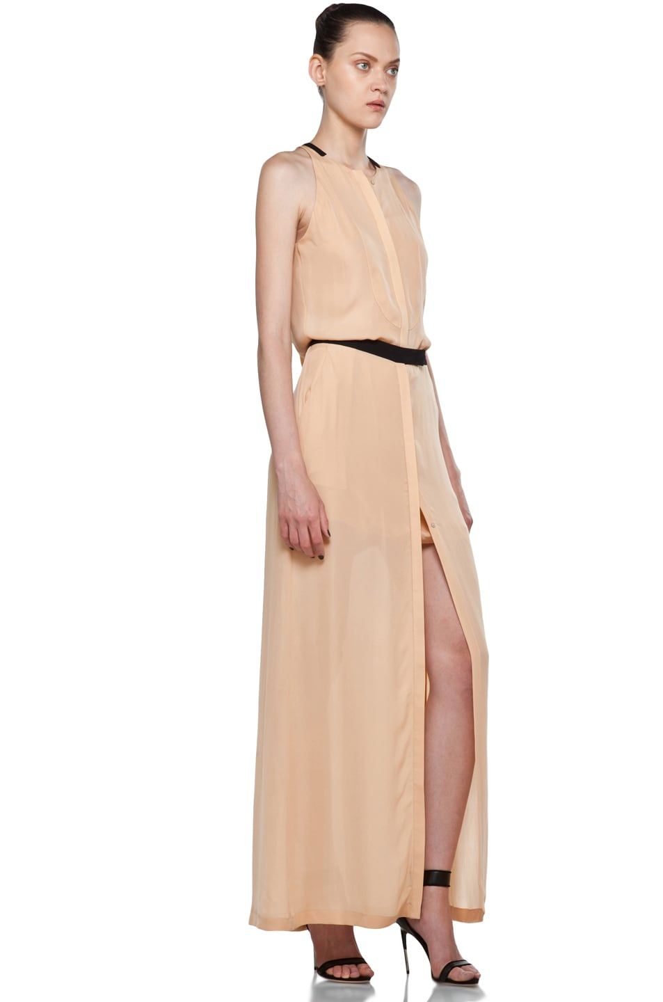 Image 3 of A.L.C. Tux Maxi Dress in Nude
