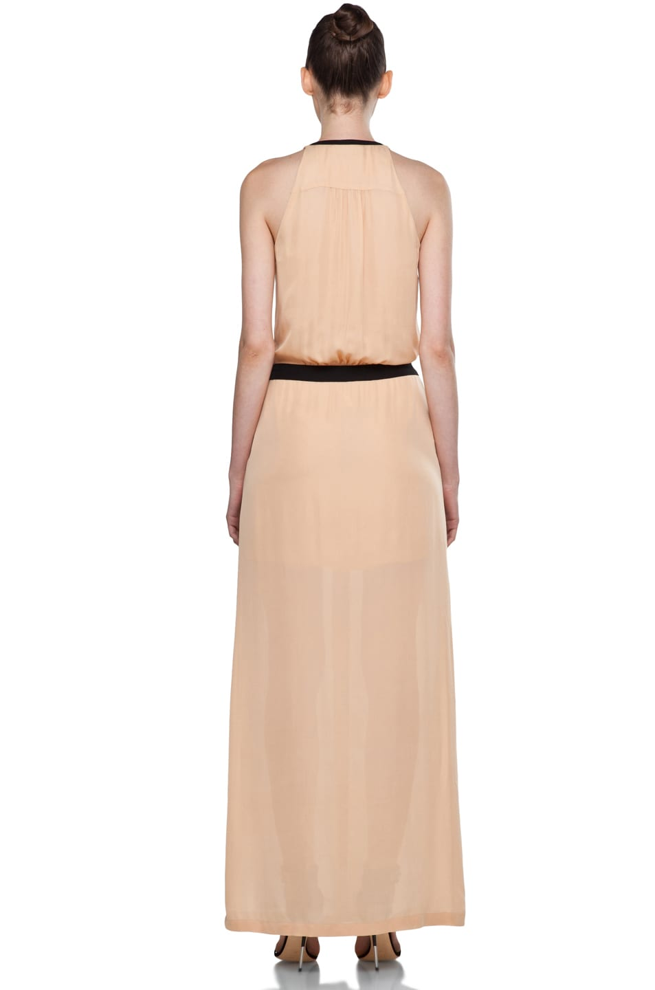 Image 4 of A.L.C. Tux Maxi Dress in Nude