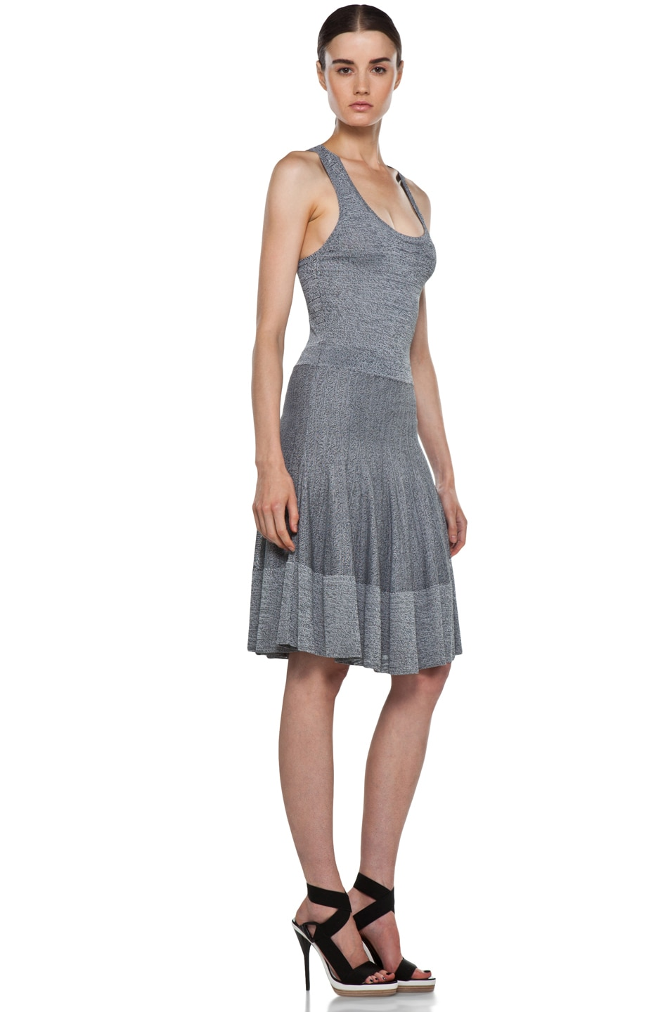 Image 3 of A.L.C. Ariana Dress in Heather Black