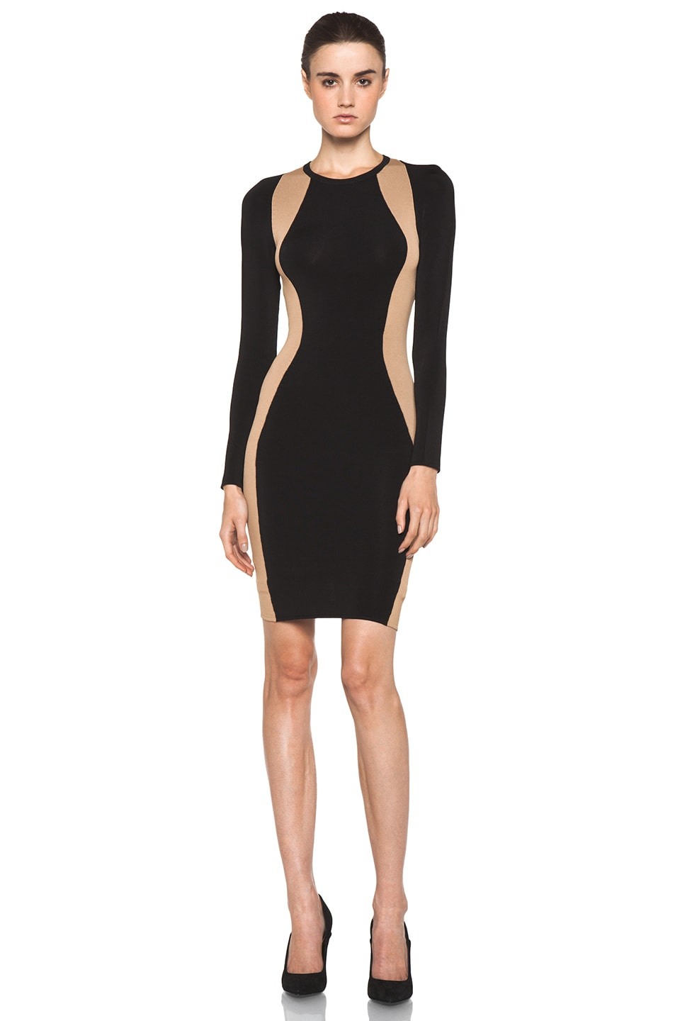Image 1 of A.L.C. Cullun Dress in Black & Nude