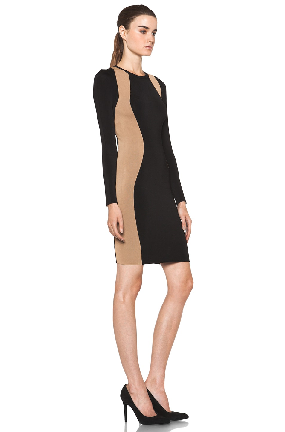 Image 3 of A.L.C. Cullun Dress in Black & Nude