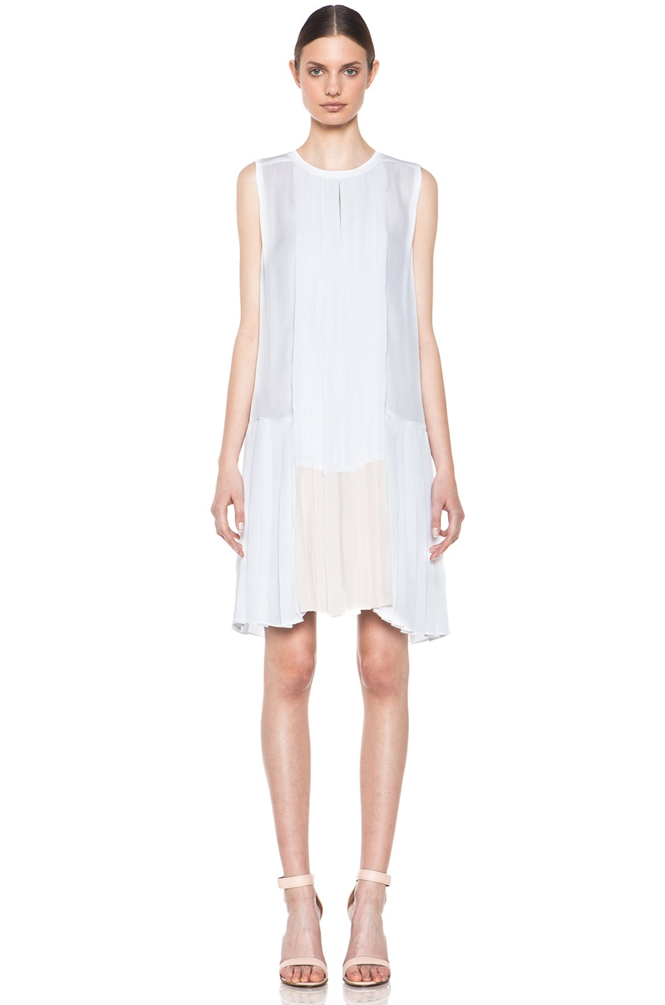 Image 1 of A.L.C. Sapphire Dress in White & Pink