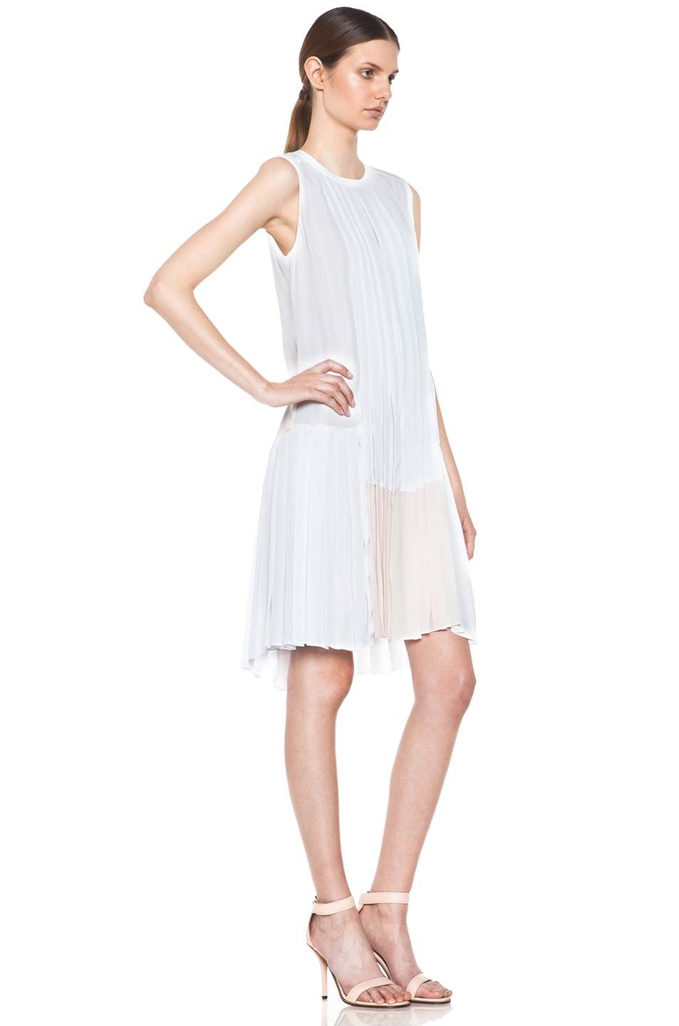 Image 3 of A.L.C. Sapphire Dress in White & Pink