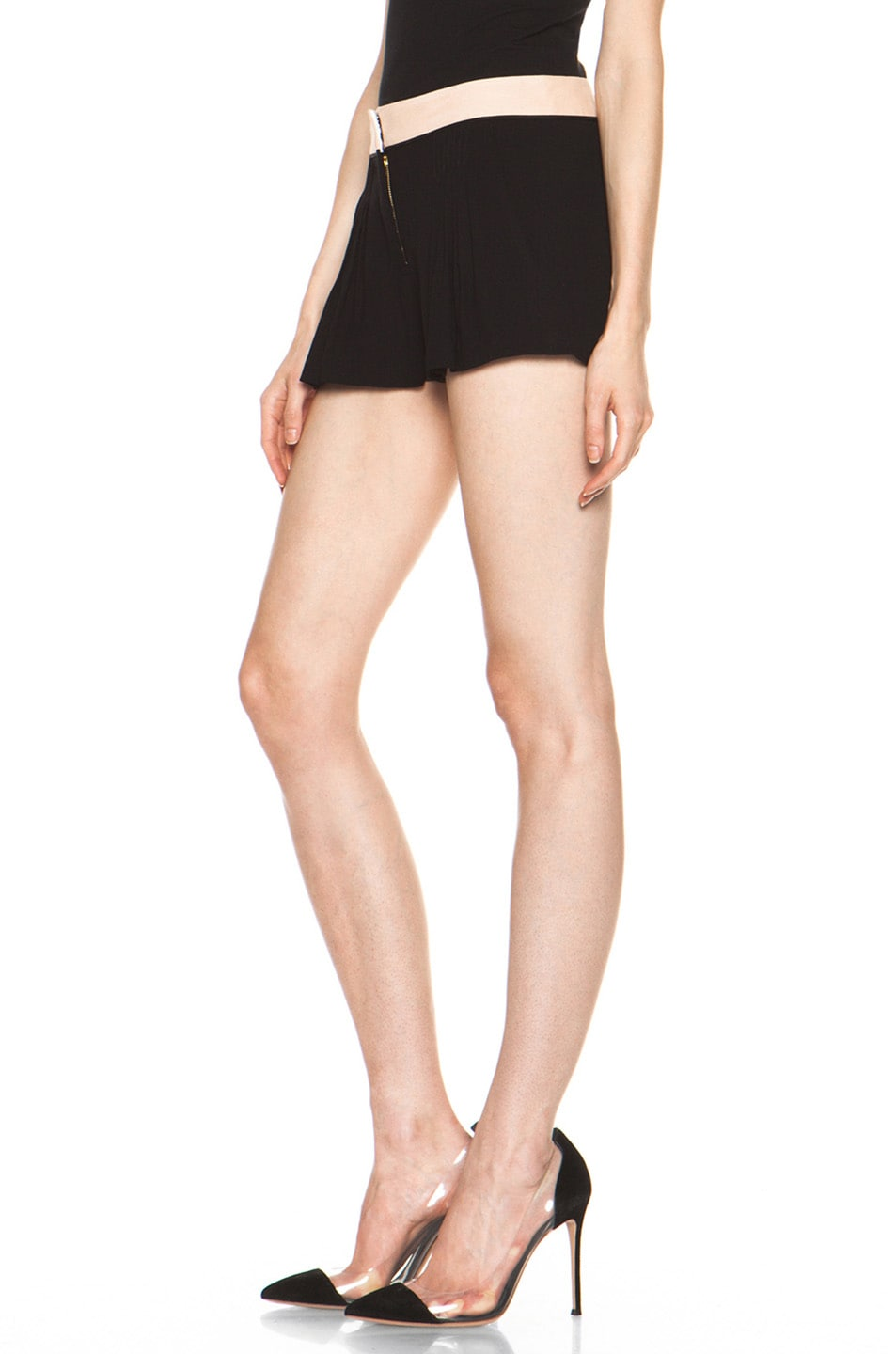 Image 2 of A.L.C. Kent Shorts in Black