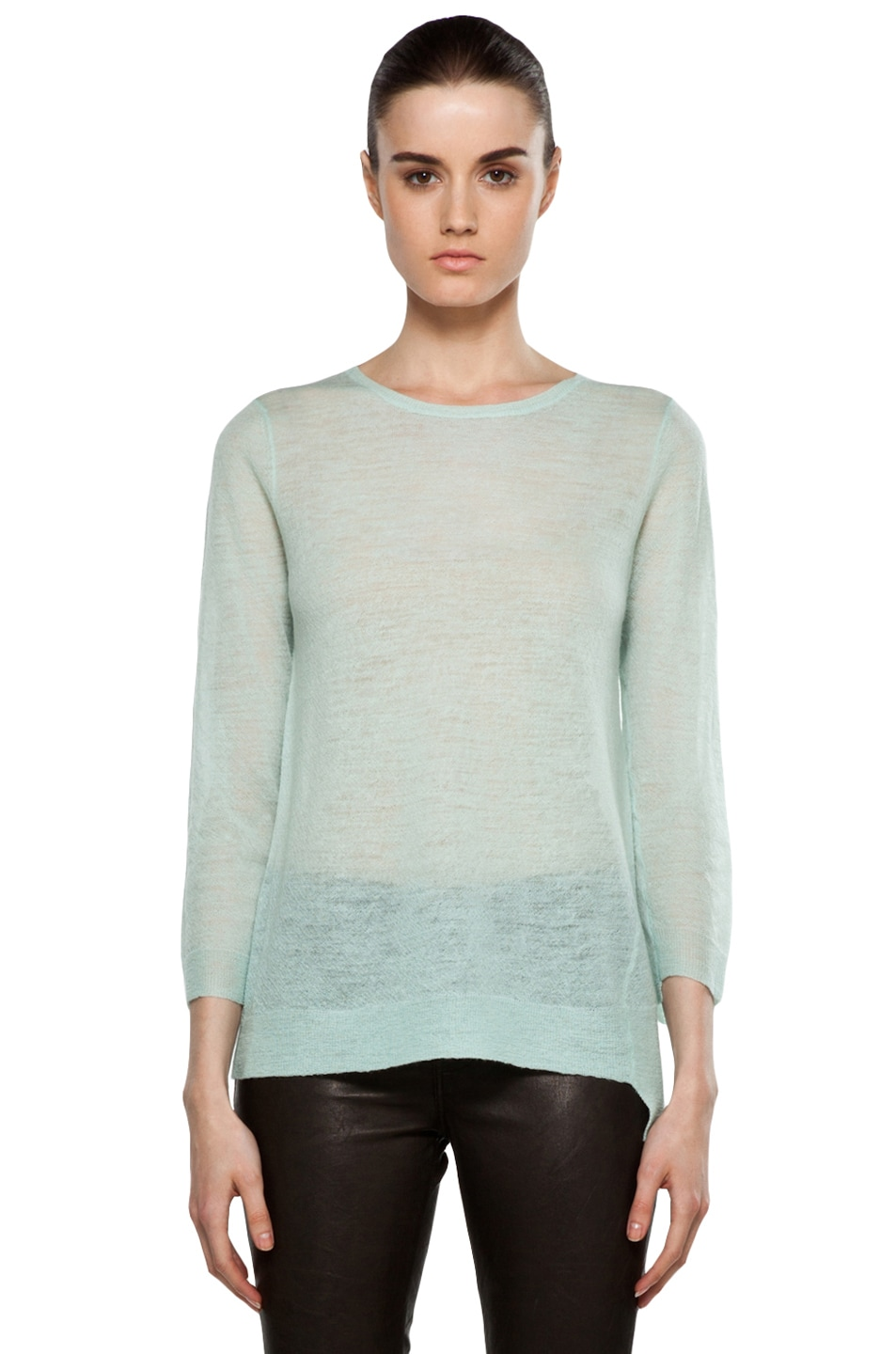 Image 1 of A.L.C. Solari Crew Sweater in Mint