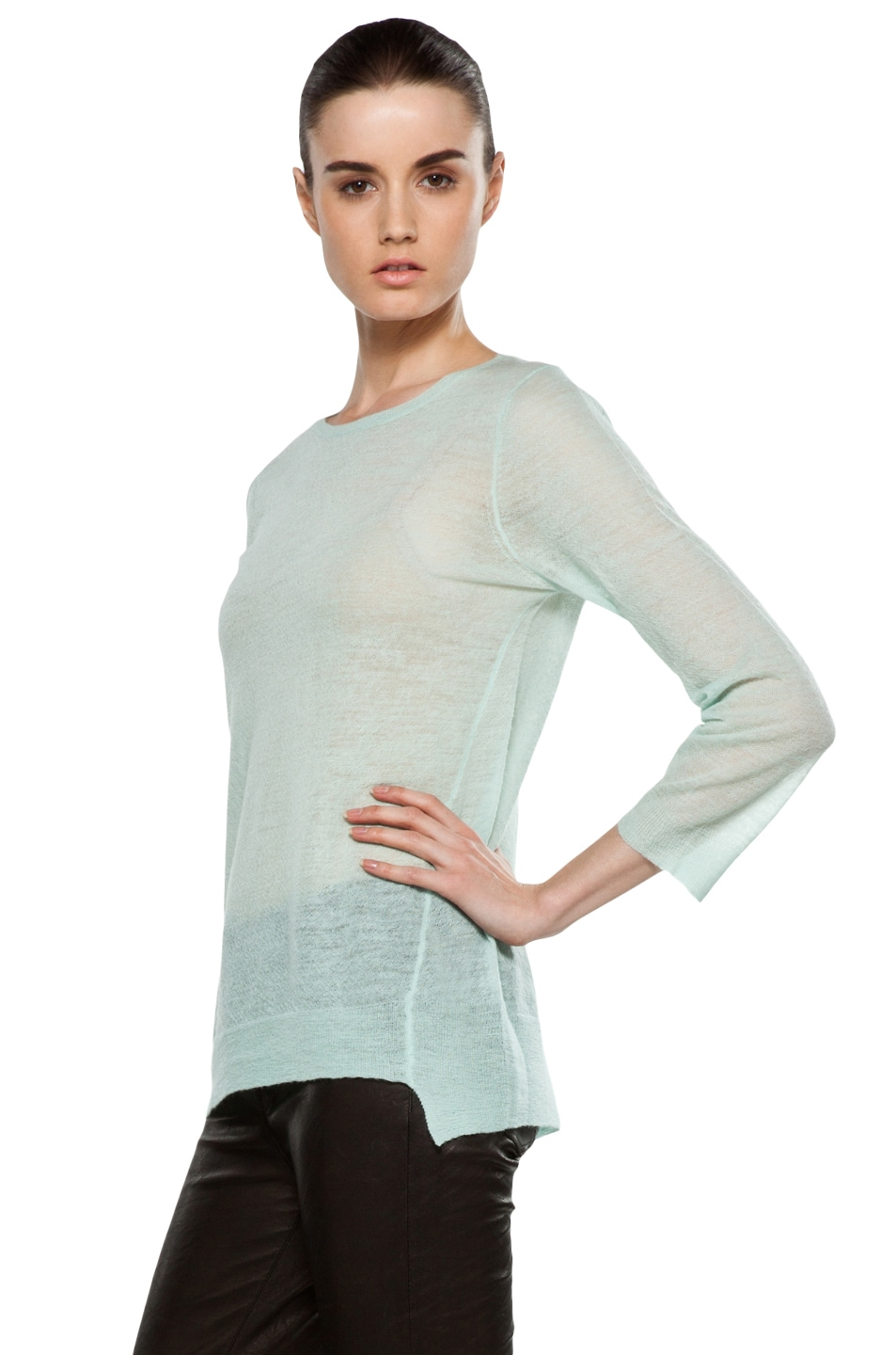 Image 2 of A.L.C. Solari Crew Sweater in Mint