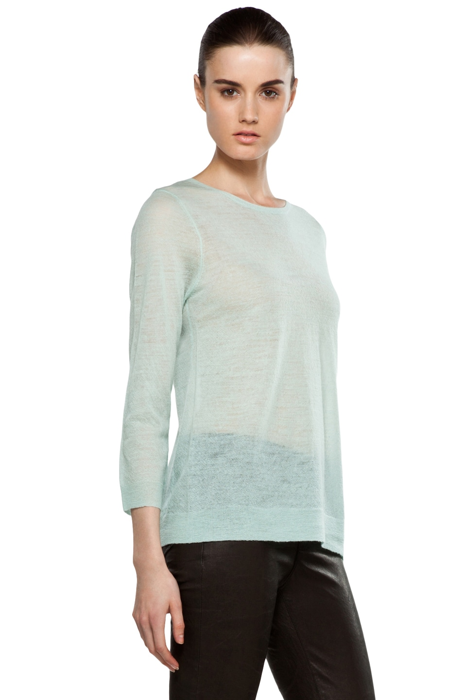 Image 3 of A.L.C. Solari Crew Sweater in Mint
