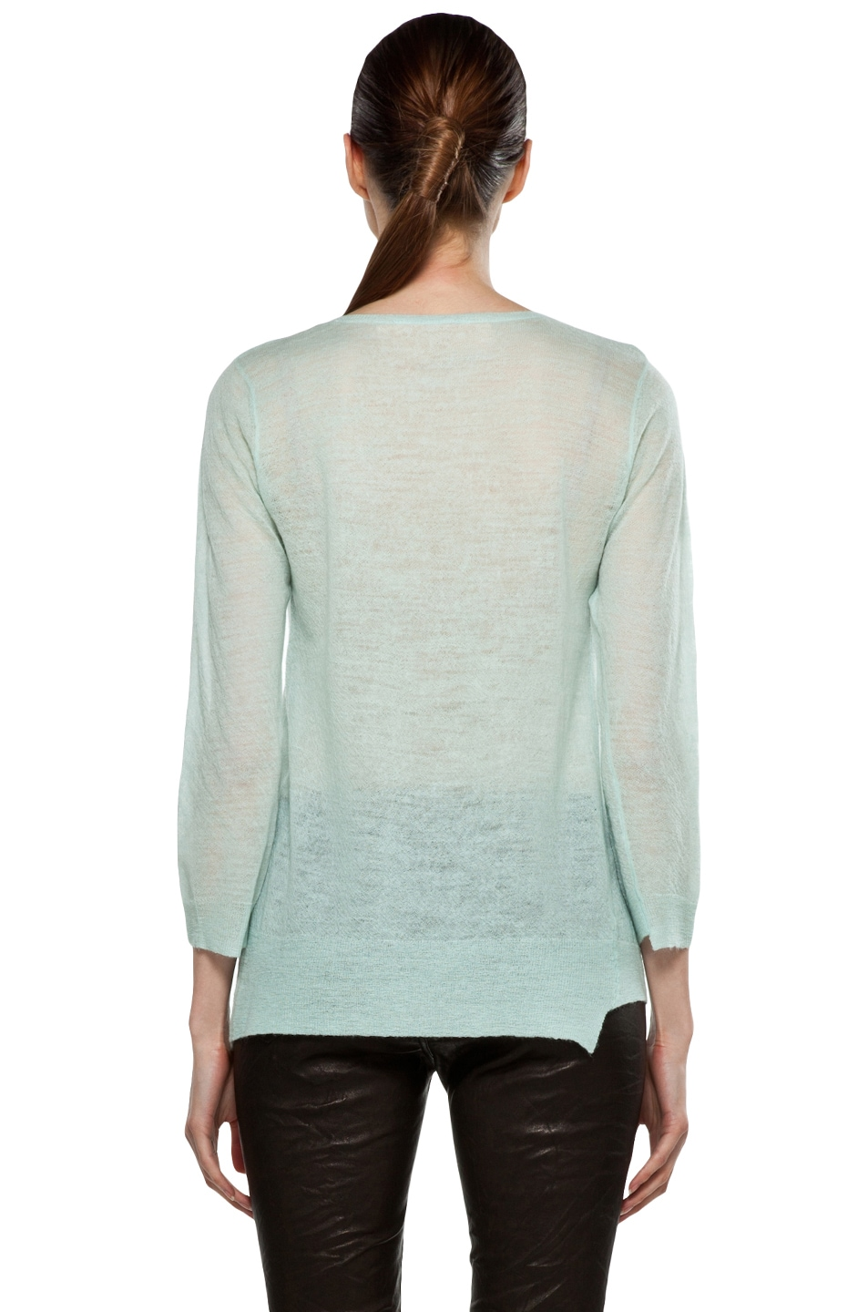 Image 4 of A.L.C. Solari Crew Sweater in Mint