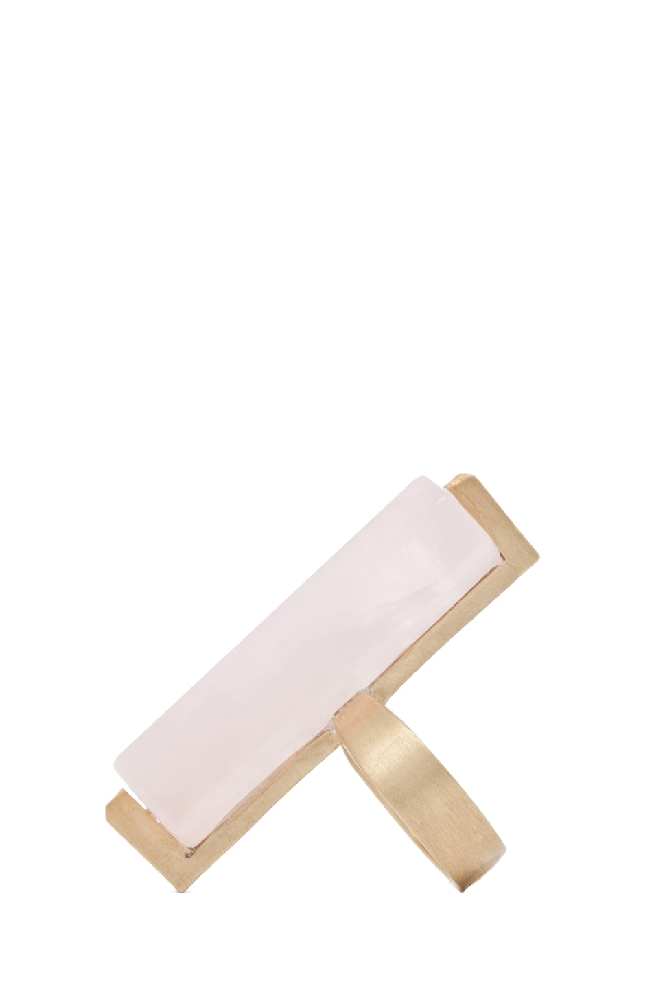 Image 2 of A.L.C. Long Crystal Ring in Rose Quartz