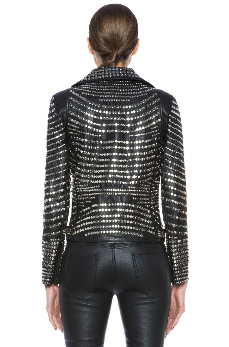 Image 5 of A.L.C. Blake Lambskin Studded Jacket in Black