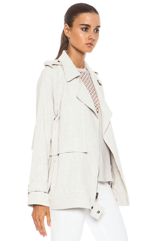 Image 4 of A.L.C. Kral Viscose-Blend Jacket in White