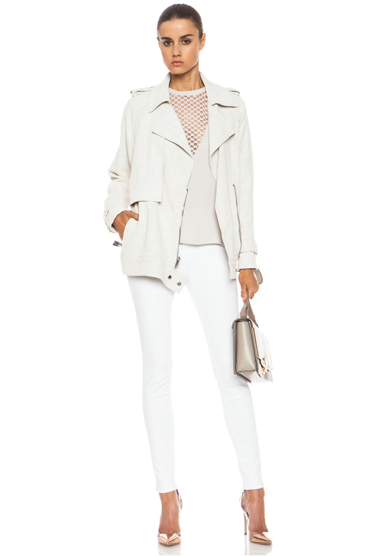 Image 6 of A.L.C. Kral Viscose-Blend Jacket in White
