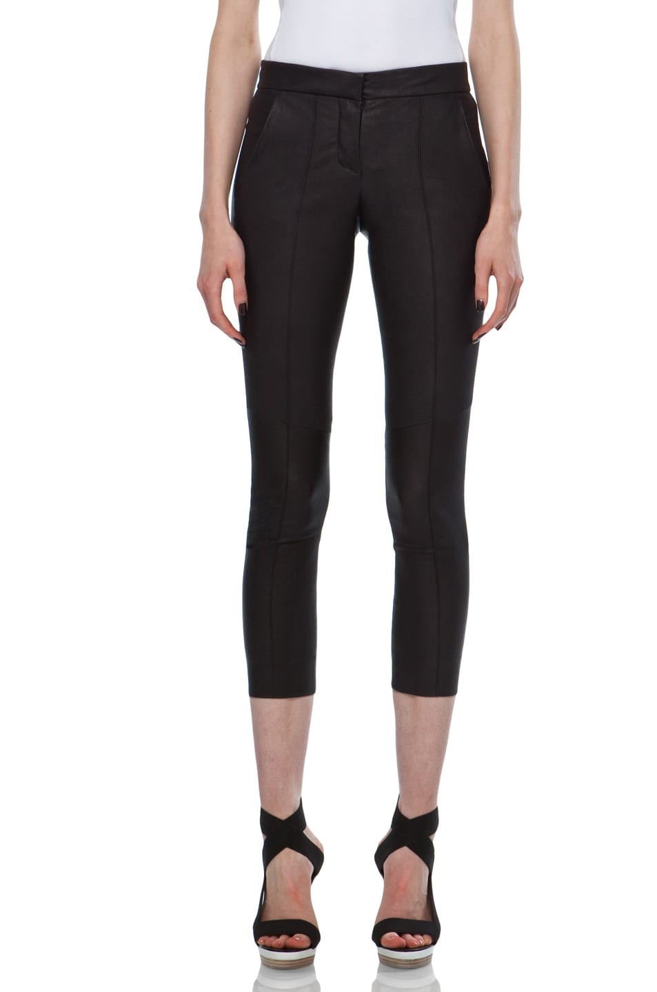 Image 1 of A.L.C. Brice Leather Pant in Black