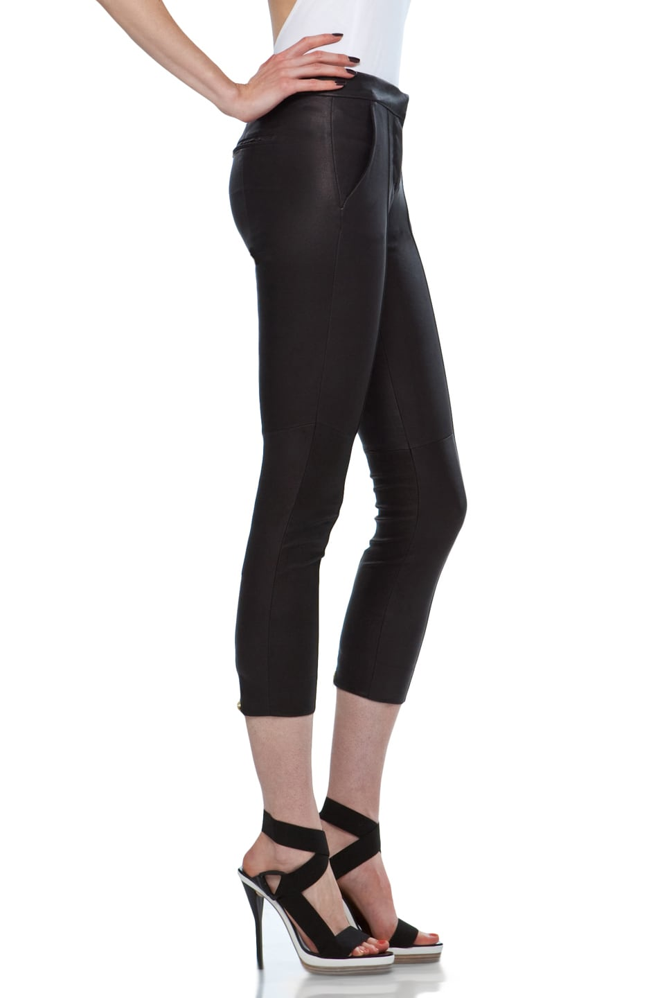 Image 3 of A.L.C. Brice Leather Pant in Black