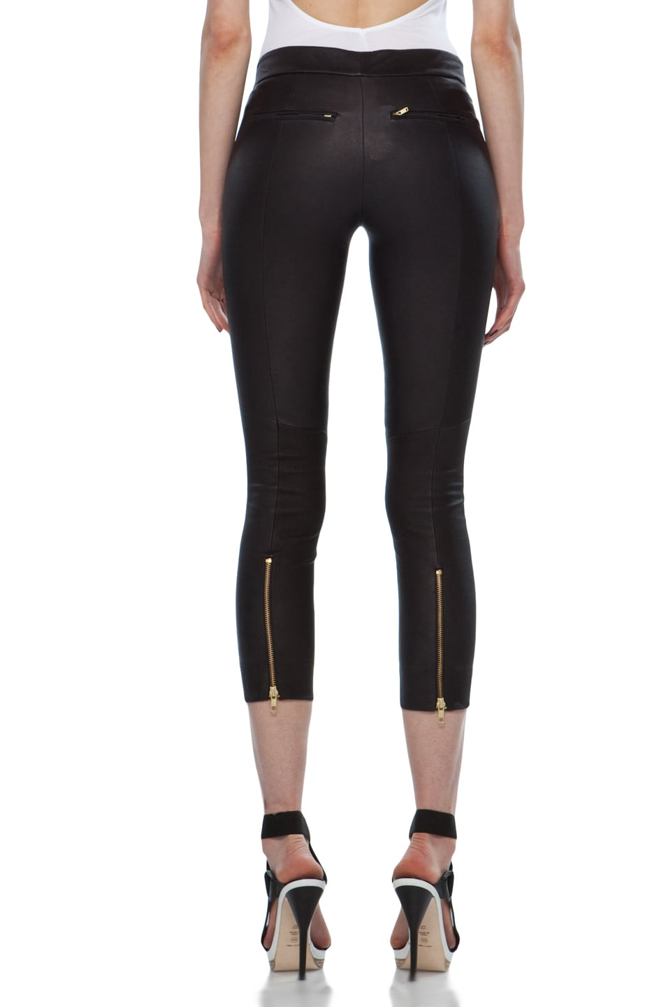 Image 4 of A.L.C. Brice Leather Pant in Black