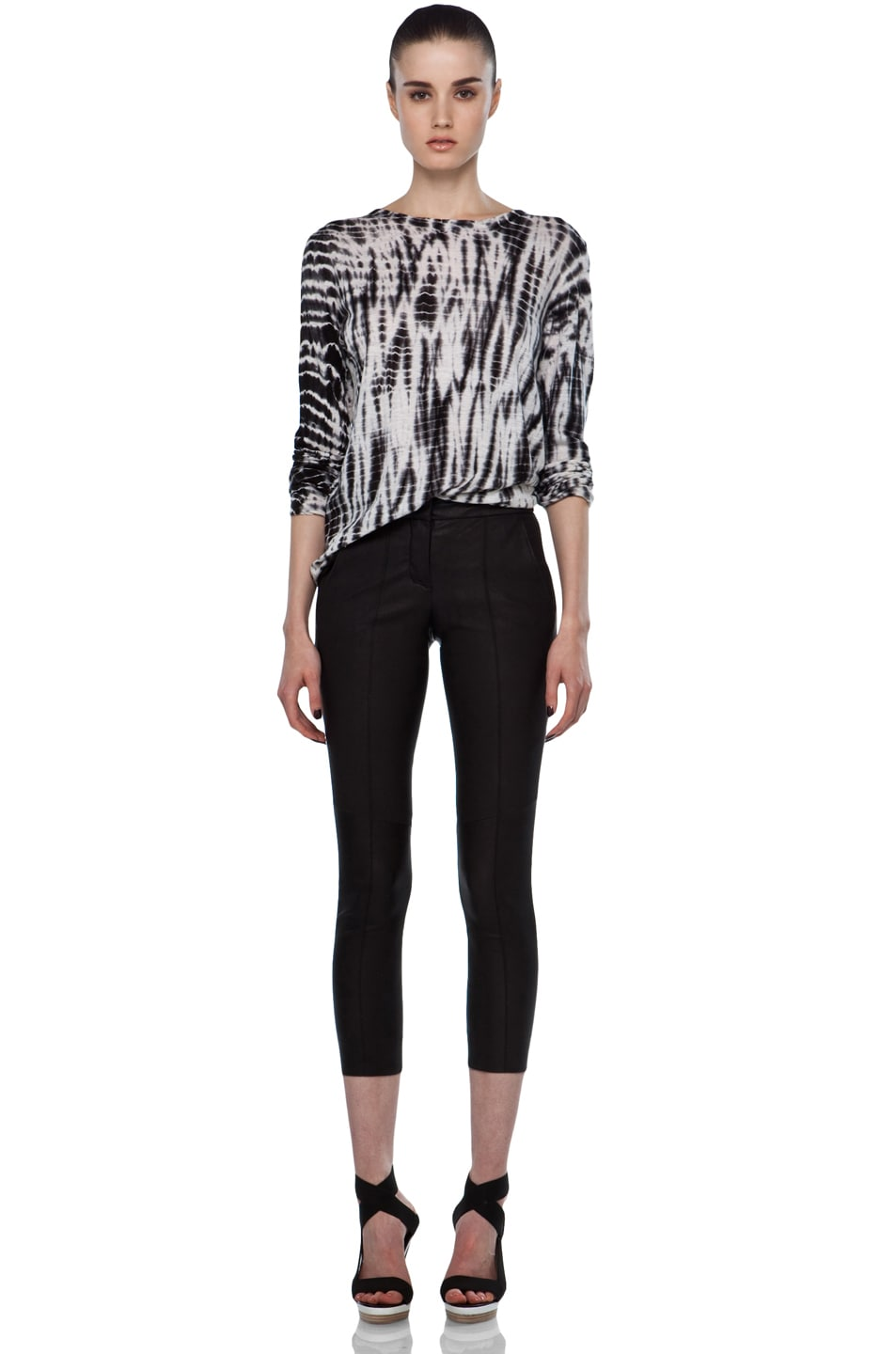 Image 5 of A.L.C. Brice Leather Pant in Black