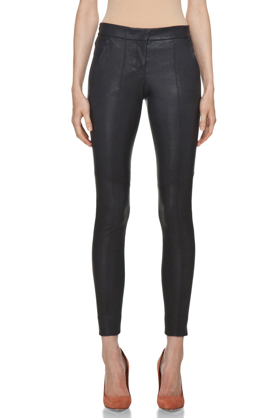 Image 1 of A.L.C. Ridley Leather Pant in Navy