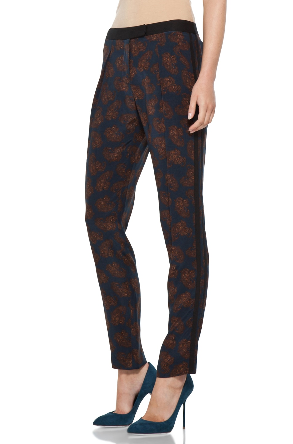 Image 2 of A.L.C. Franco Pant in Navy Paisley