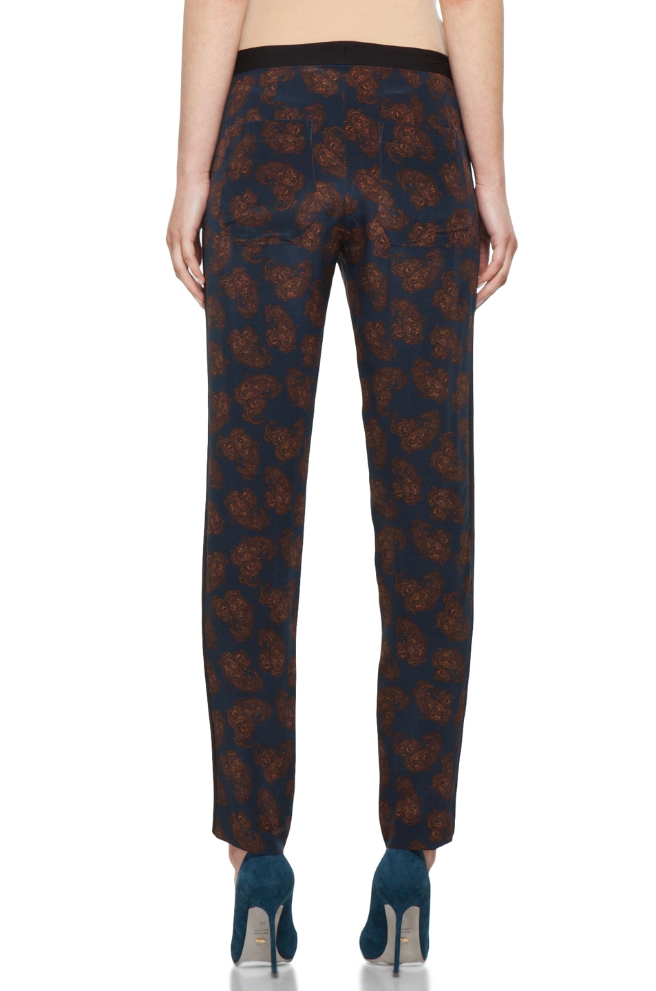 Image 4 of A.L.C. Franco Pant in Navy Paisley