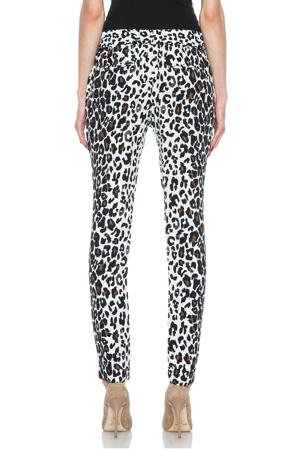 Image 4 of A.L.C. Thompson Silk Pant in White Leopard