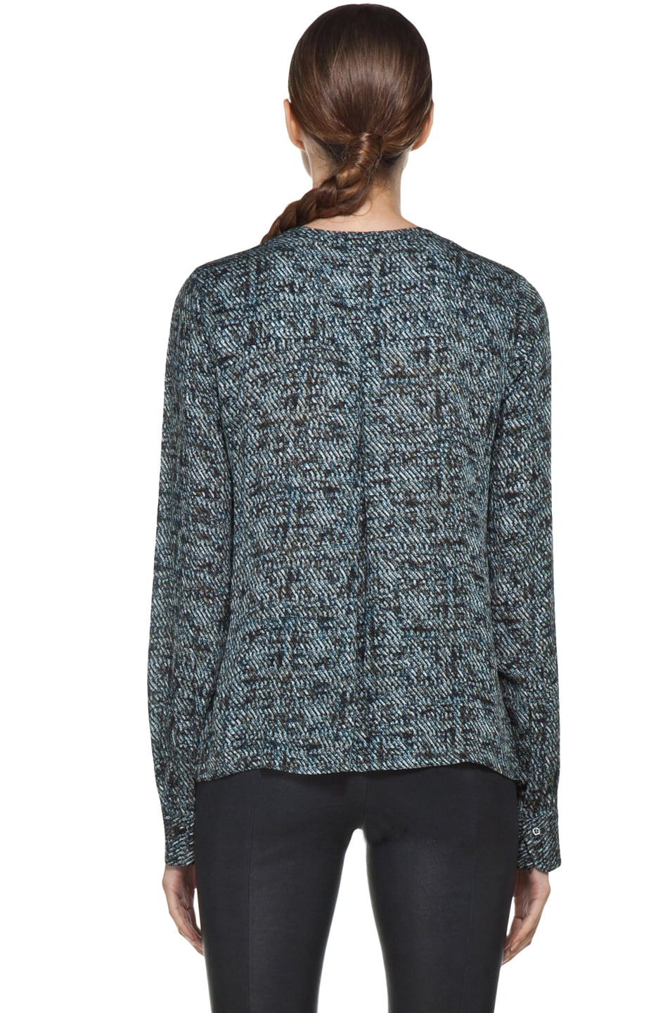 Image 4 of A.L.C. Ari Printed Blouse in Grain