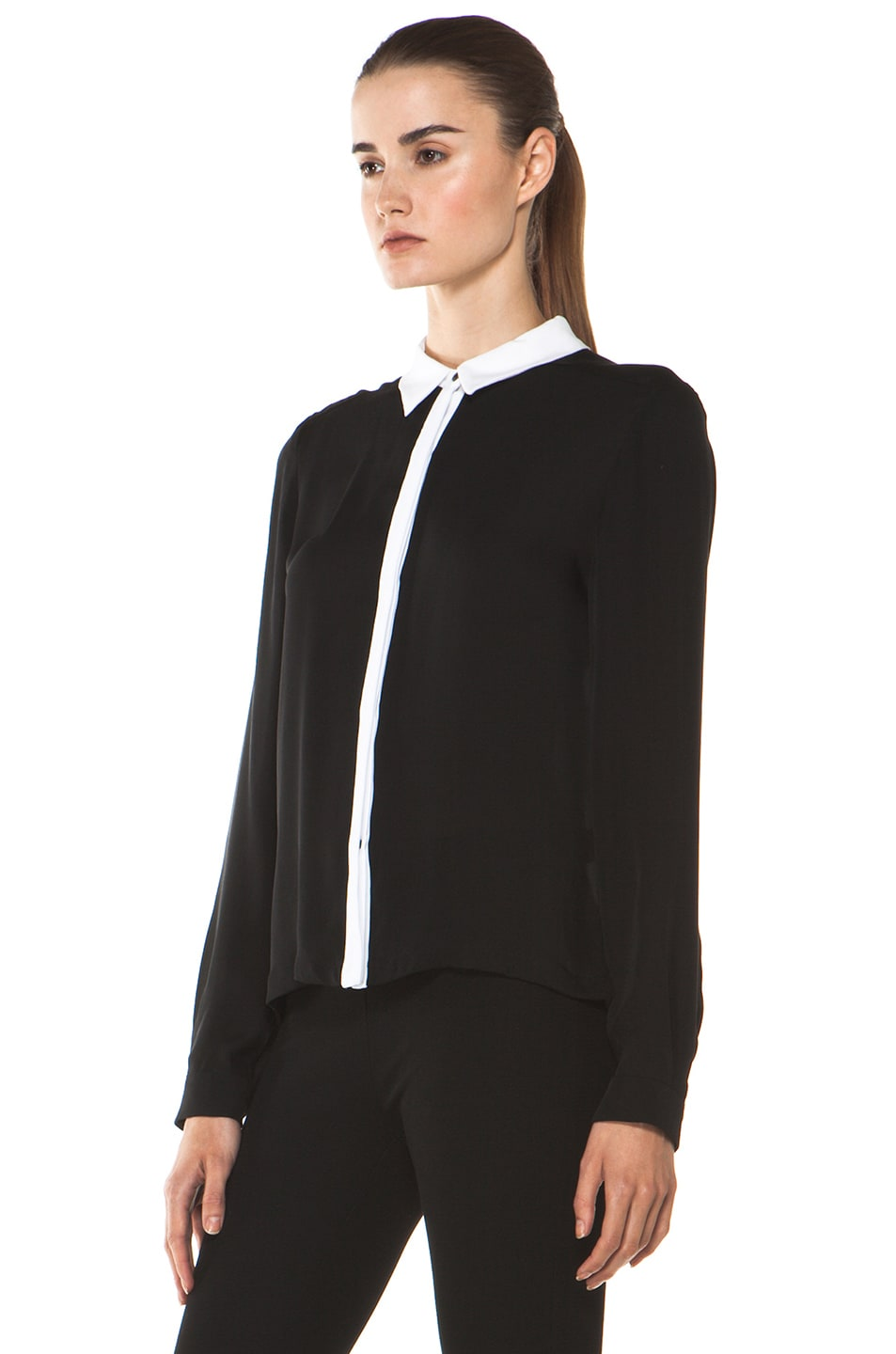 Image 2 of A.L.C. Gillian Blouse in Black
