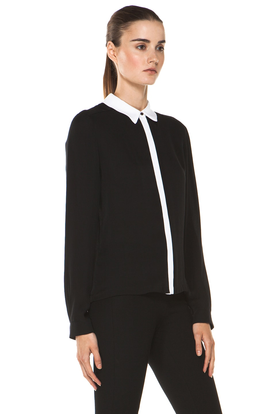 Image 3 of A.L.C. Gillian Blouse in Black