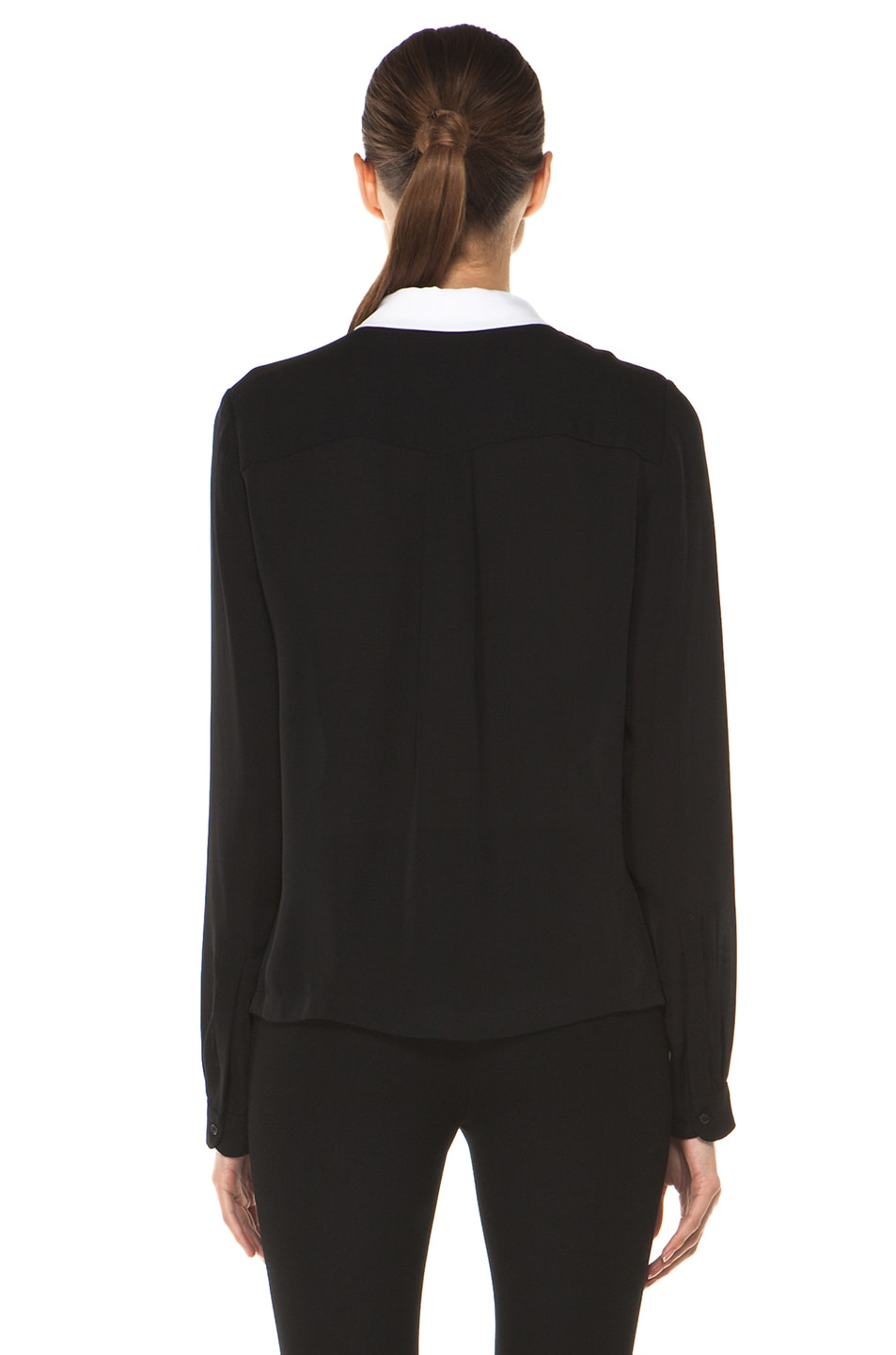 Image 4 of A.L.C. Gillian Blouse in Black