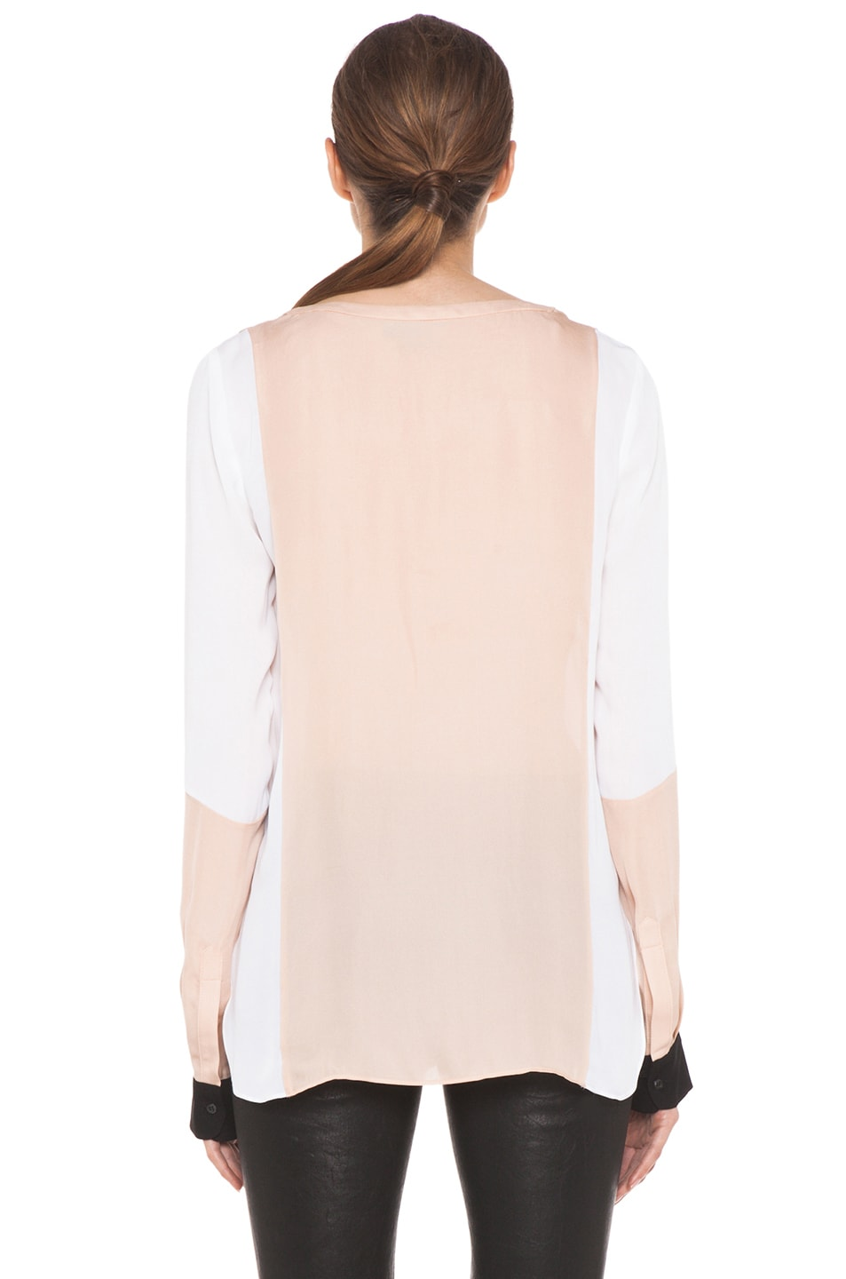 Image 5 of A.L.C. Dorset Silk Blouse in Blush