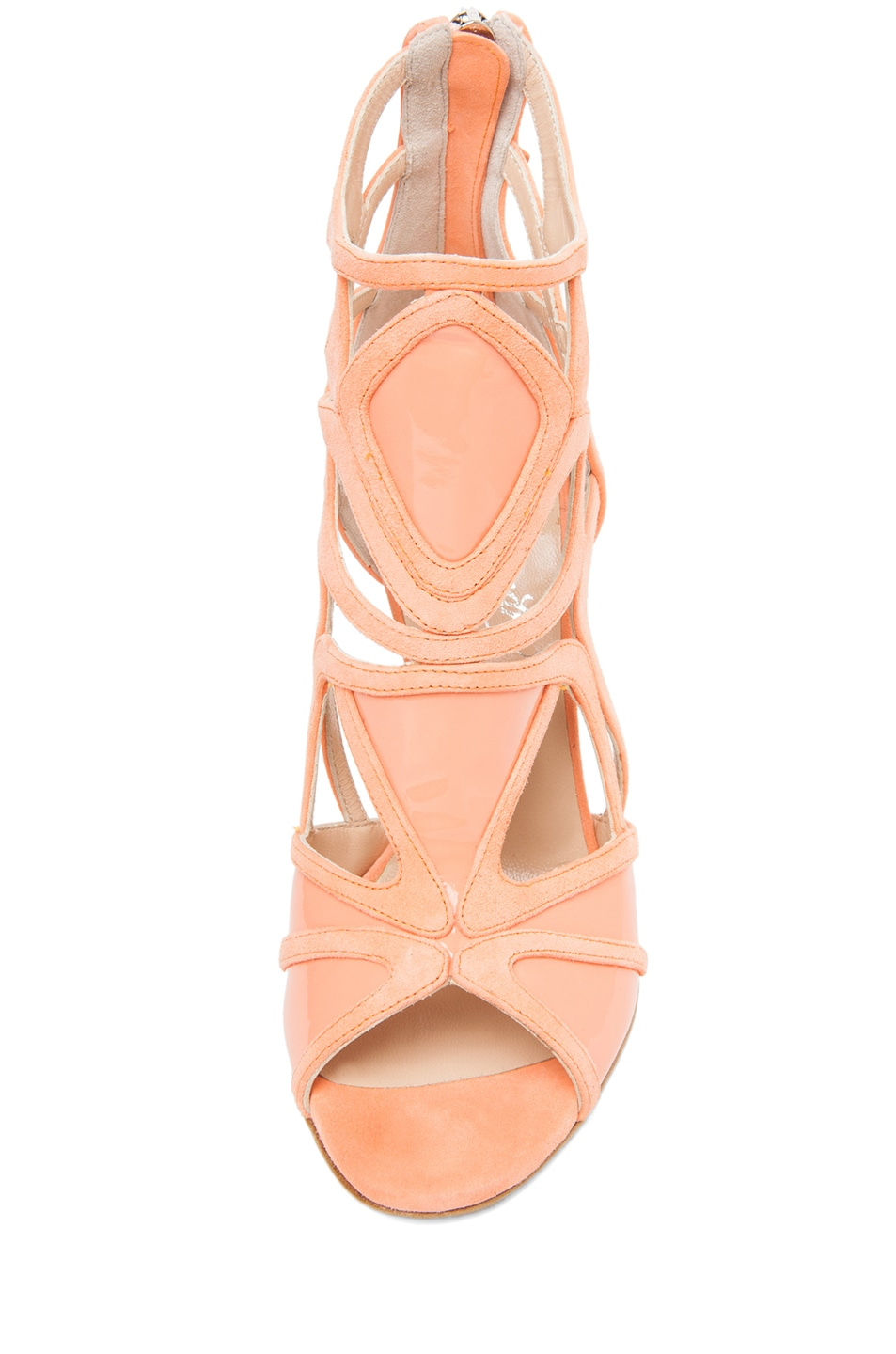 Image 4 of Alejandro Ingelmo Odessy Geometric Open Toe Bootie in Coral
