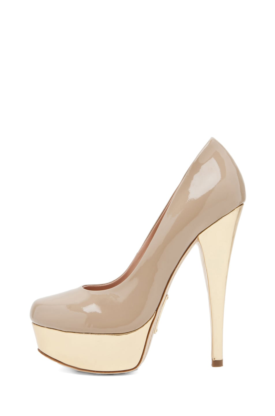 Image 1 of Alejandro Ingelmo Sophia Pump in Sand/Gold